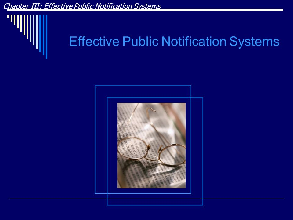Effective Public Notification Systems