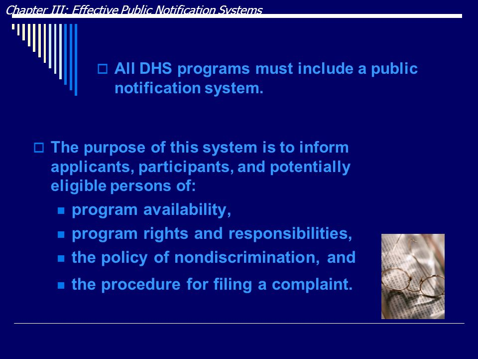 program rights and responsibilities,
