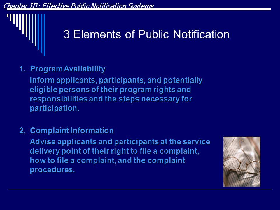 3 Elements of Public Notification