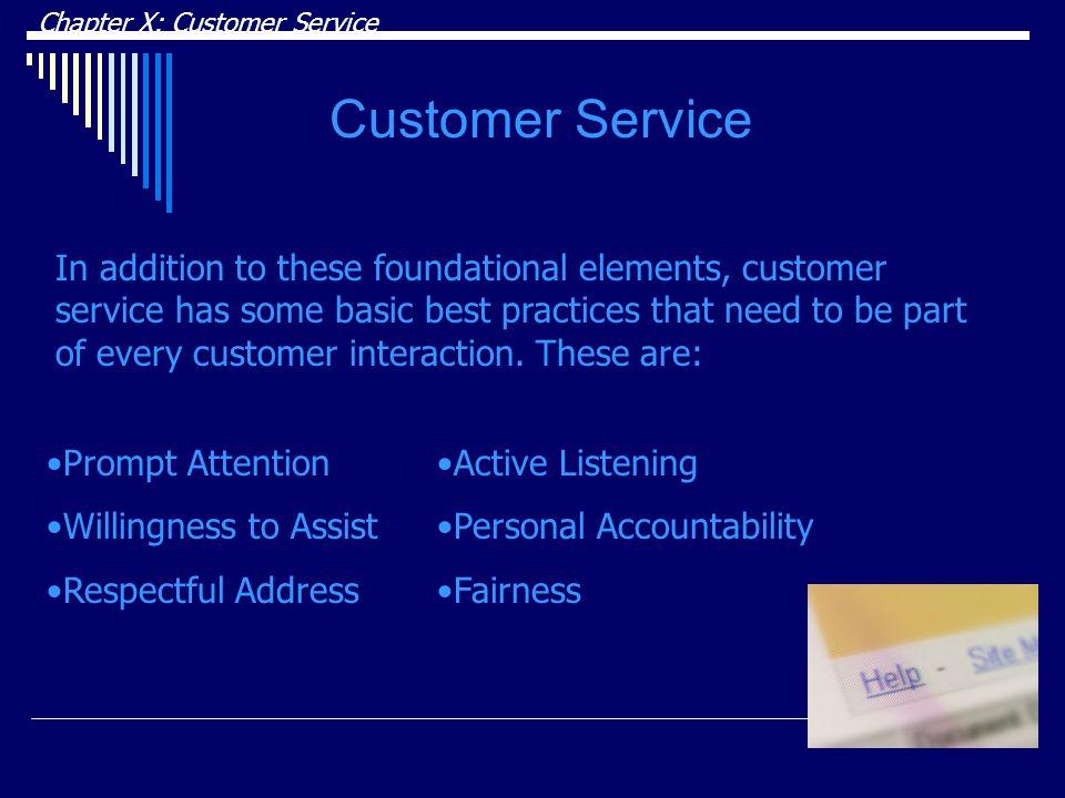 DRAFT Chapter X: Customer Service. Customer Service.
