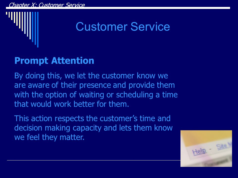 Customer Service Prompt Attention