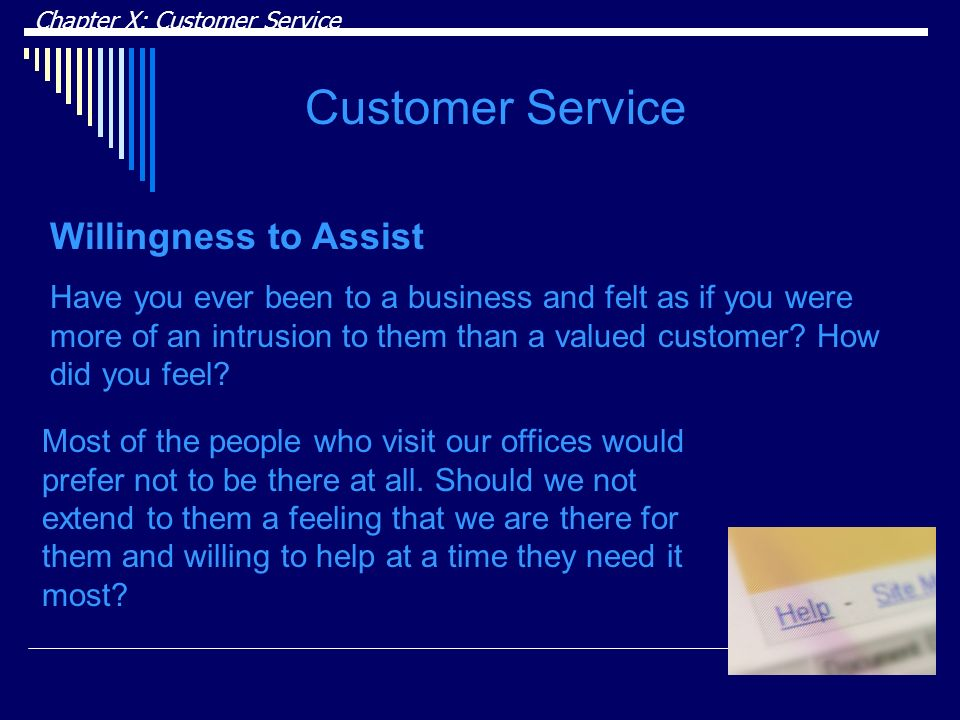 Customer Service Willingness to Assist
