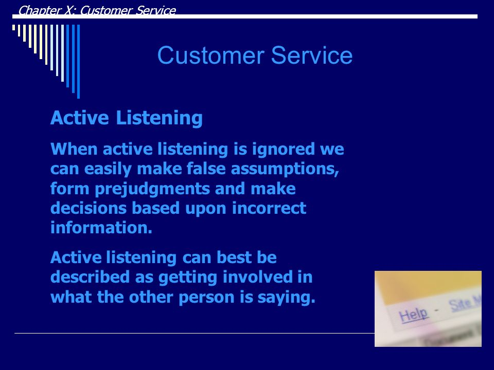 Customer Service Active Listening