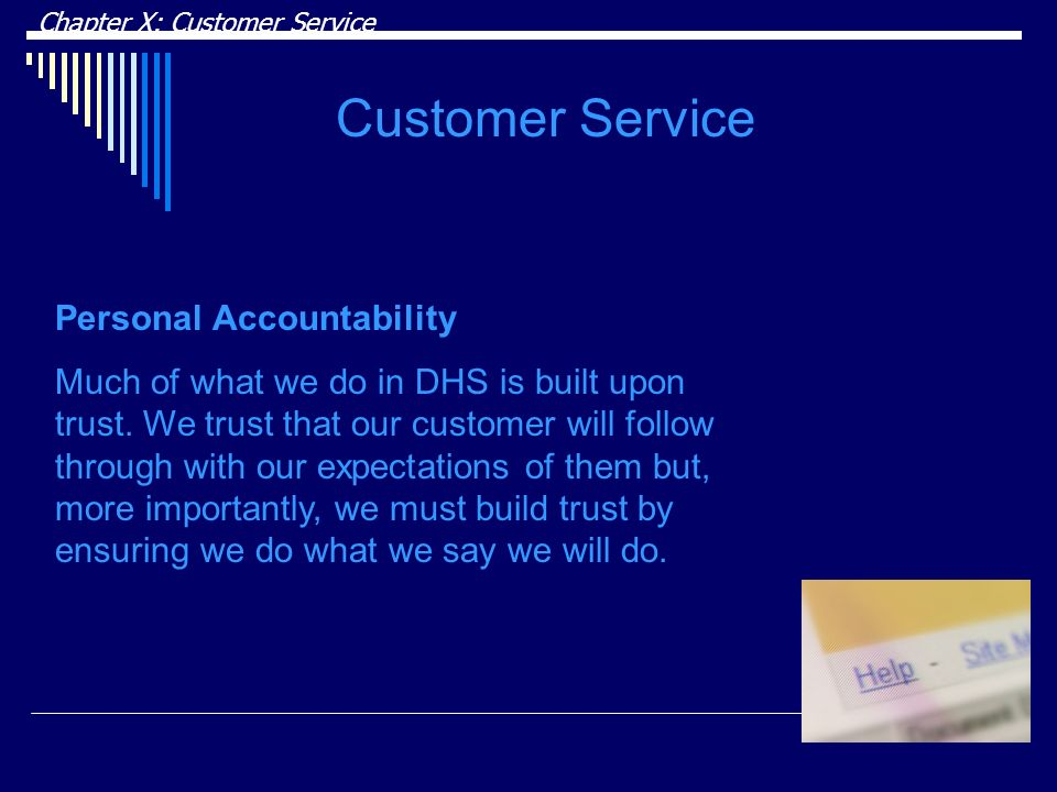Customer Service Personal Accountability