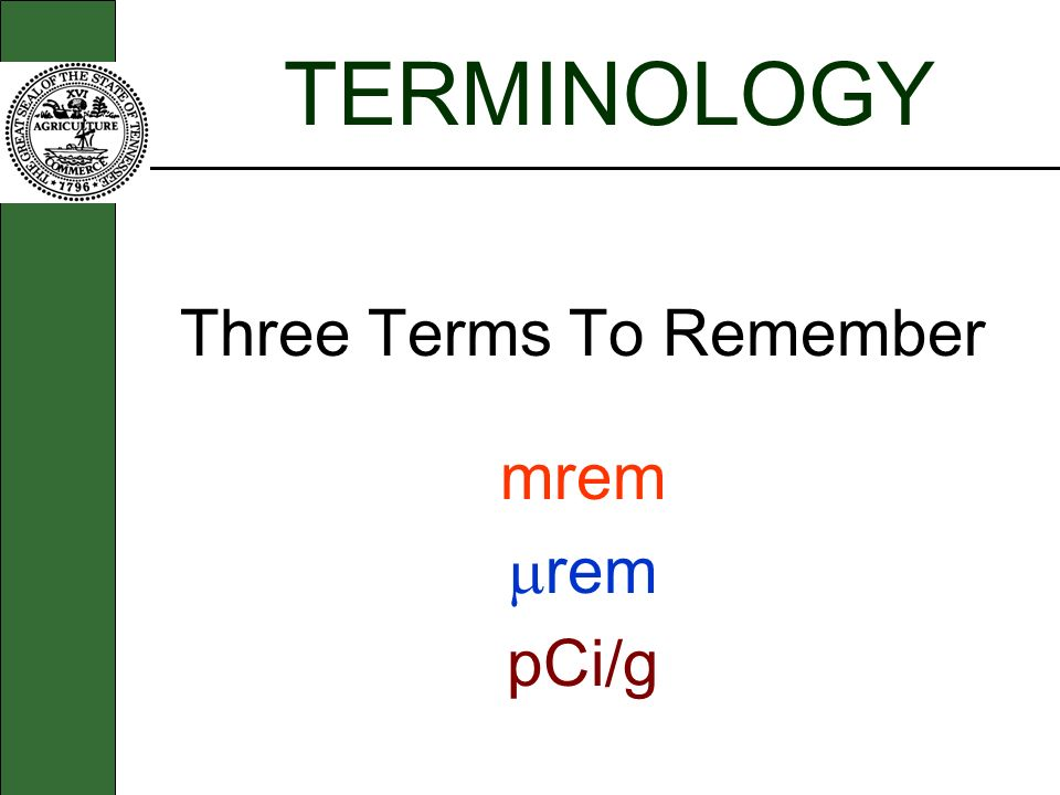 Three Terms To Remember