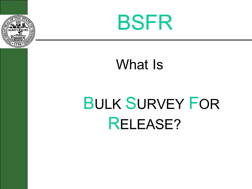 BULK SURVEY FOR RELEASE