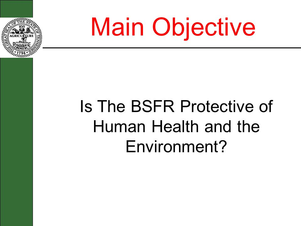 Is The BSFR Protective of Human Health and the Environment
