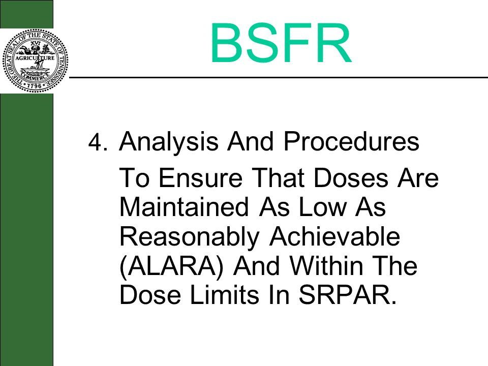 BSFR 4. Analysis And Procedures