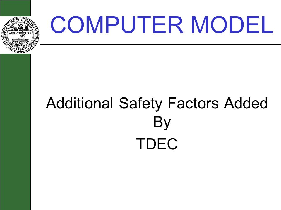 Additional Safety Factors Added By