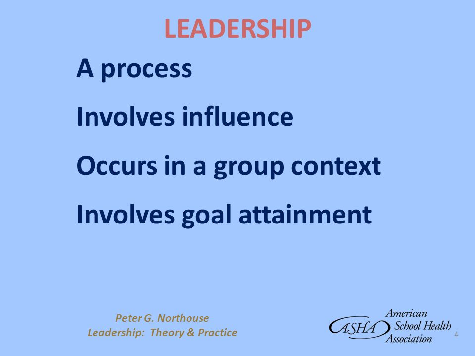 Leadership: Theory & Practice