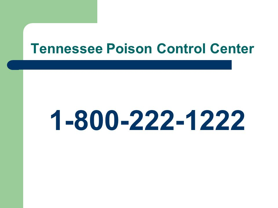 Tennessee Poison Control Center