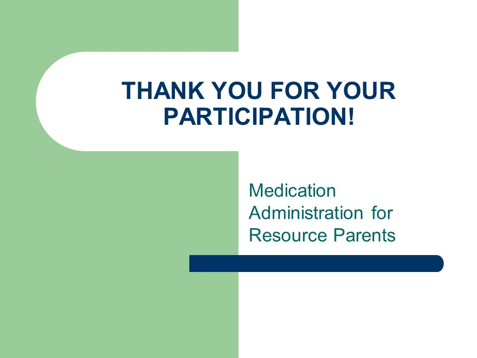 THANK YOU FOR YOUR PARTICIPATION!