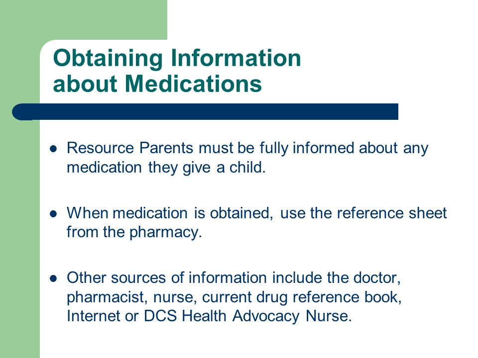 Obtaining Information about Medications