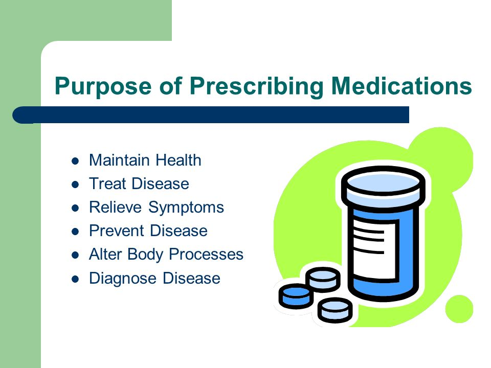 Purpose of Prescribing Medications