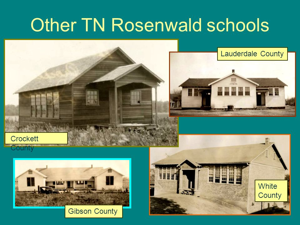 Other TN Rosenwald schools