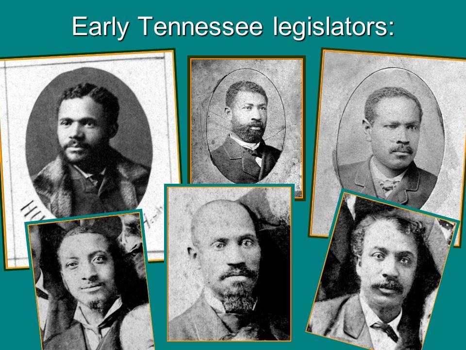 Early Tennessee legislators: