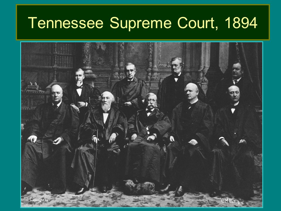 Tennessee Supreme Court, 1894