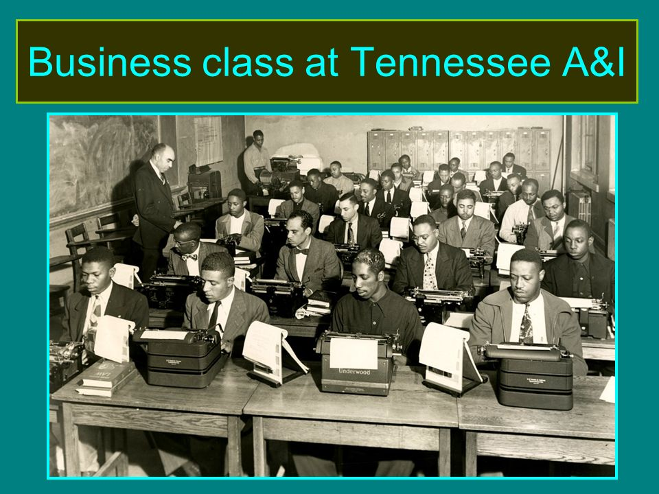 Business class at Tennessee A&I