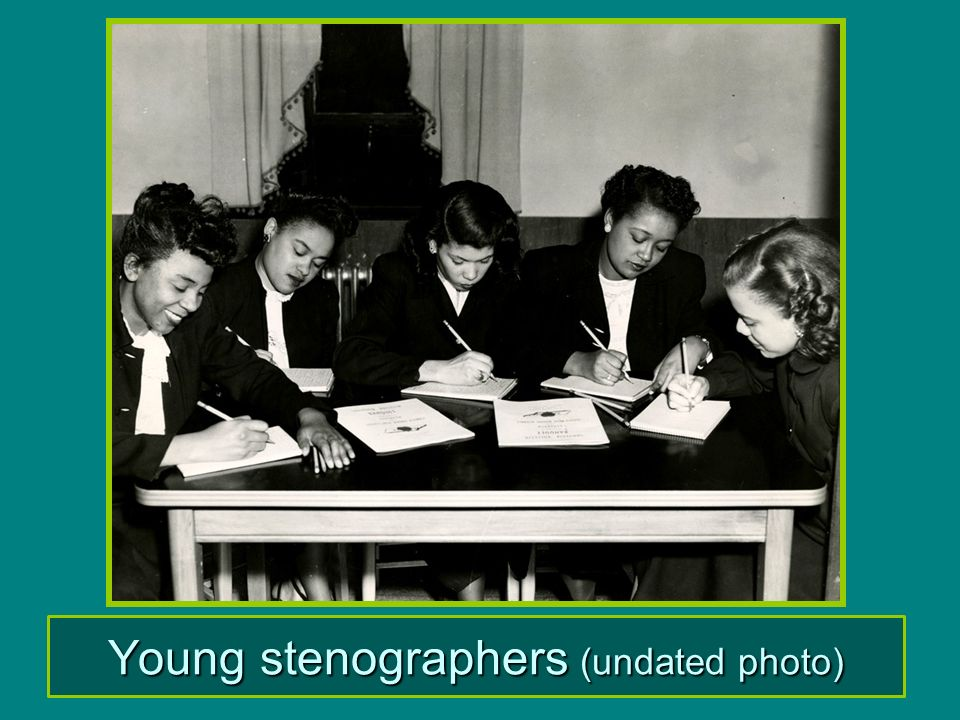 Young stenographers (undated photo)