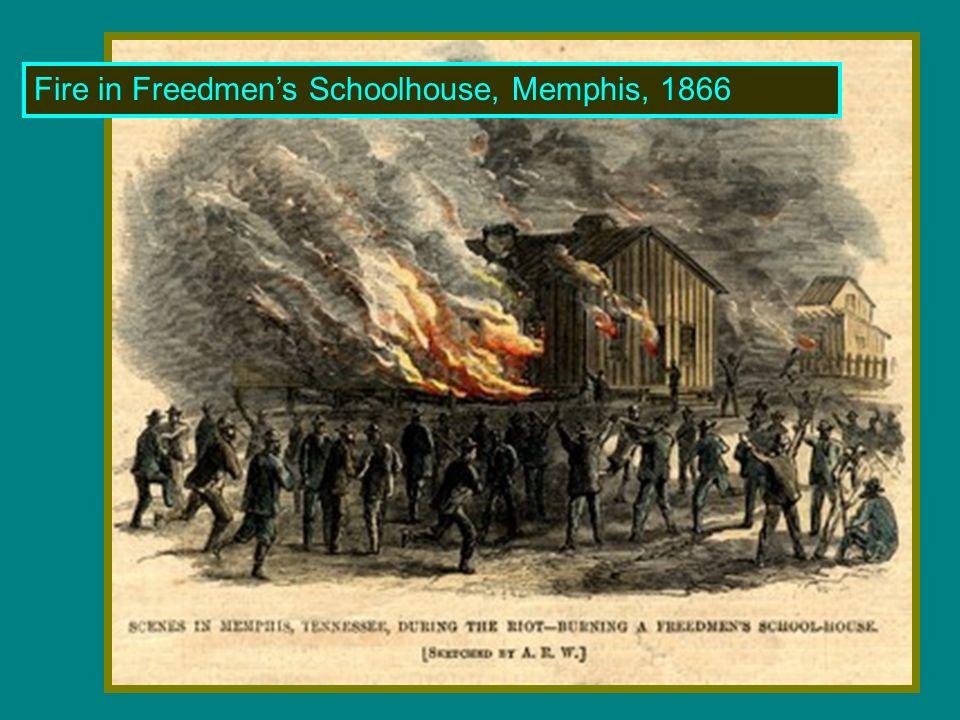 Fire in Freedmen's Schoolhouse, Memphis, 1866