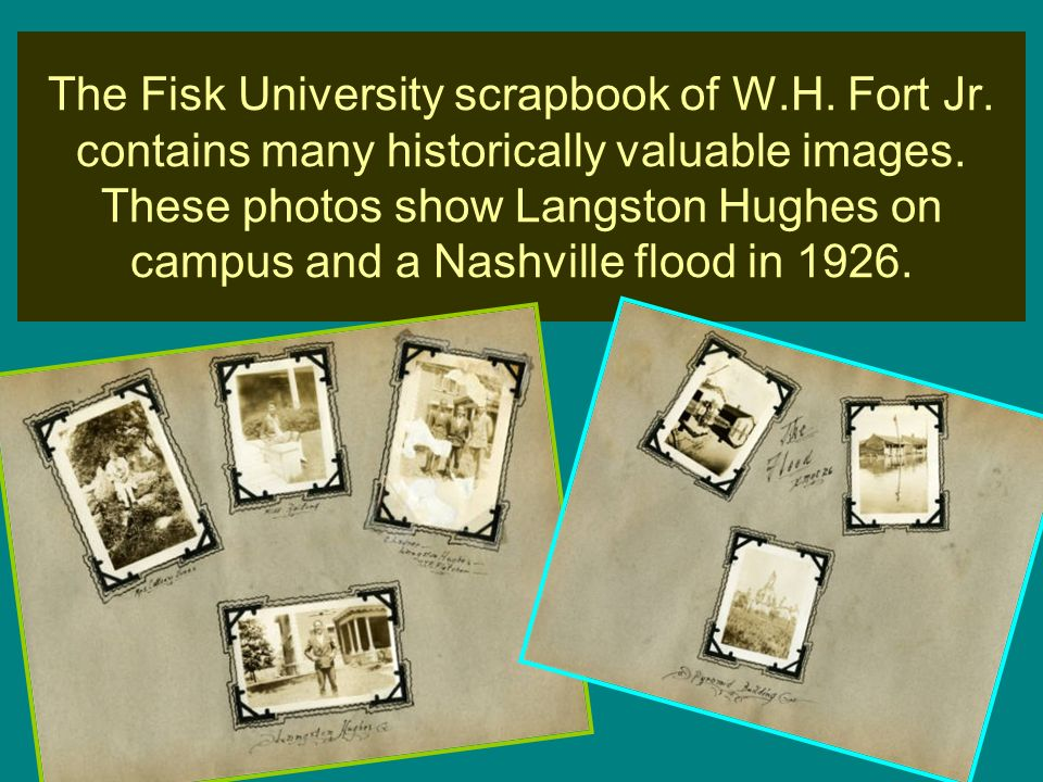 The Fisk University scrapbook of W. H. Fort Jr