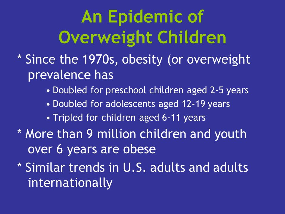 An Epidemic of Overweight Children