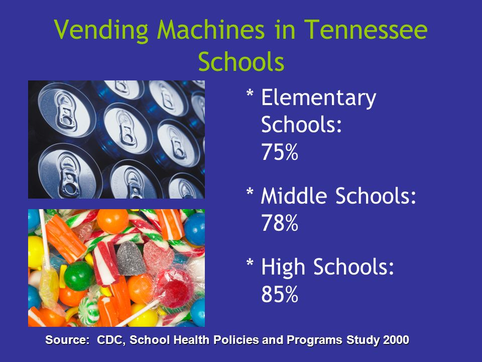 Vending Machines in Tennessee Schools