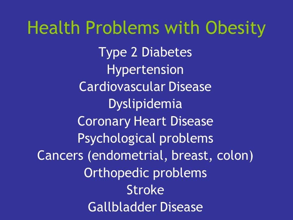 Health Problems with Obesity