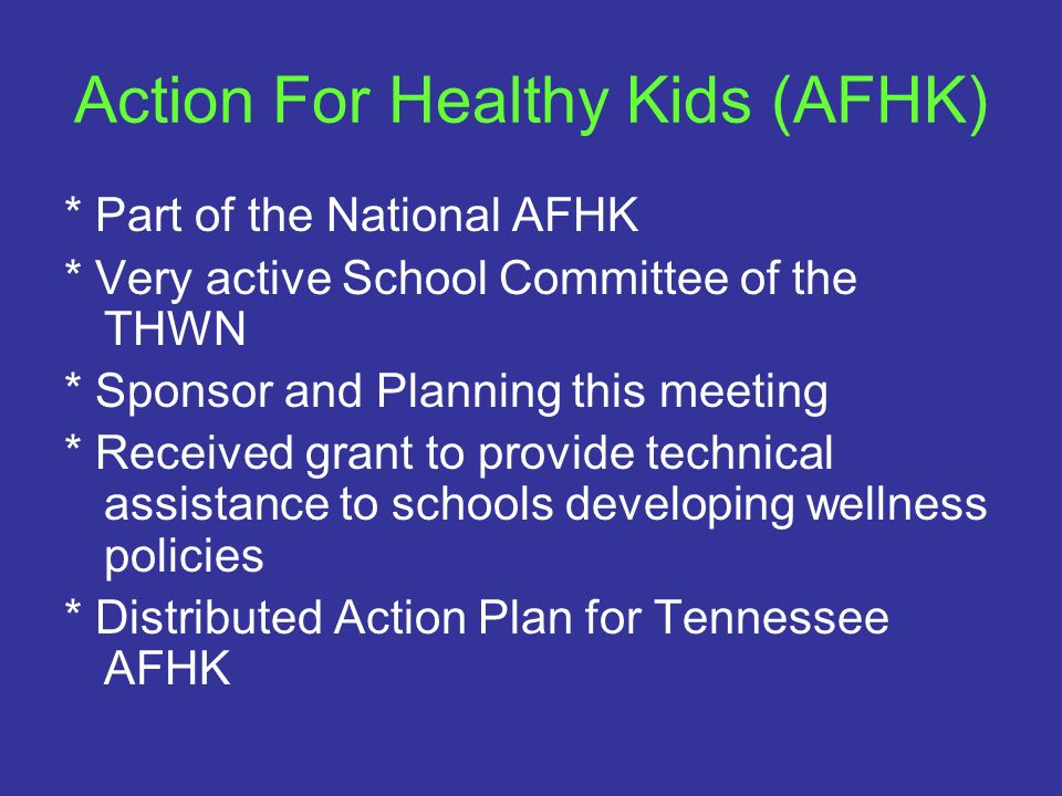 Action For Healthy Kids (AFHK)