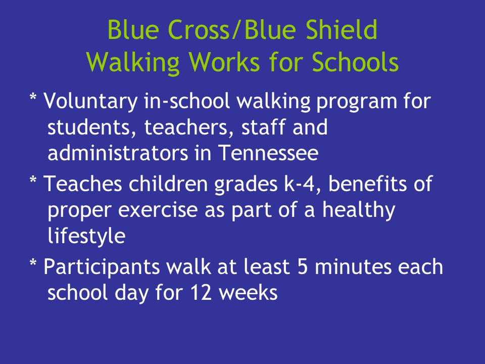Blue Cross/Blue Shield Walking Works for Schools