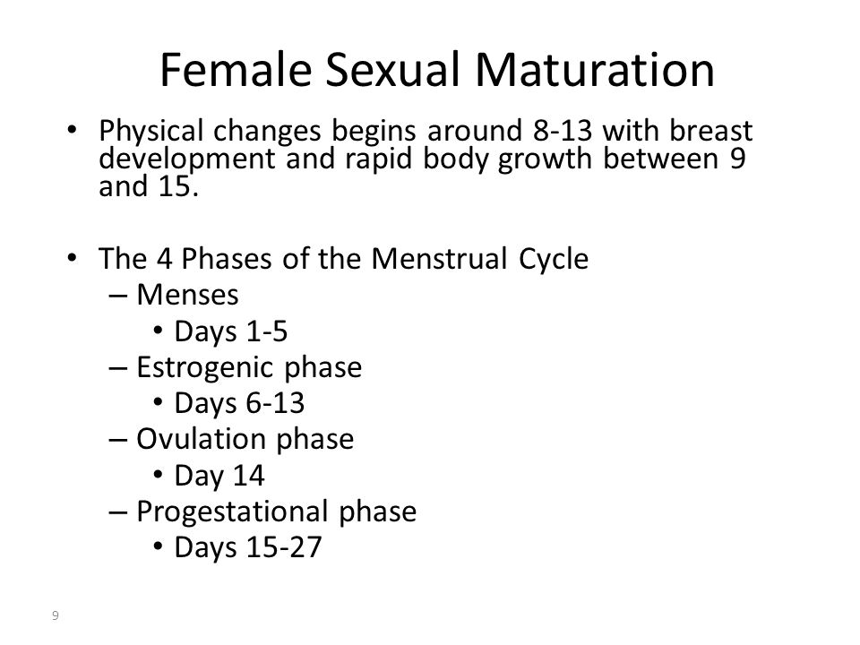 Female Sexual Maturation