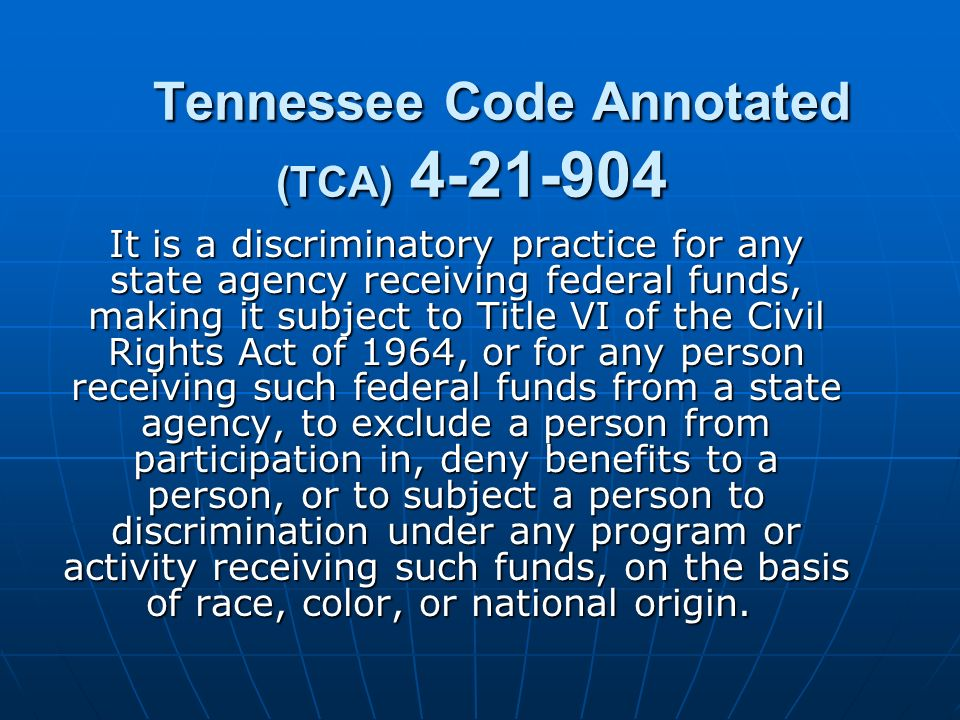 Tennessee Code Annotated (TCA) 4-21-904