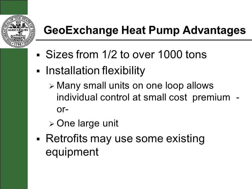 GeoExchange Heat Pump Advantages