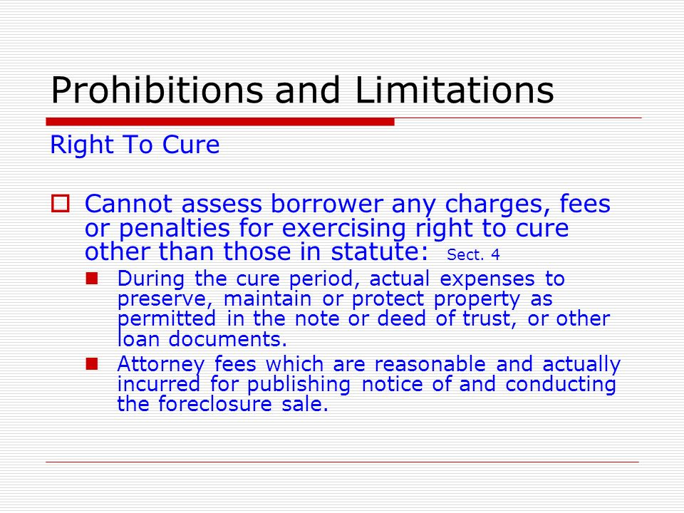 Prohibitions and Limitations