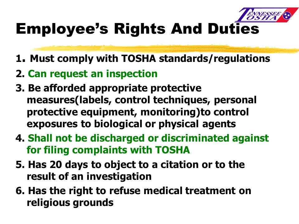 Employee's Rights And Duties