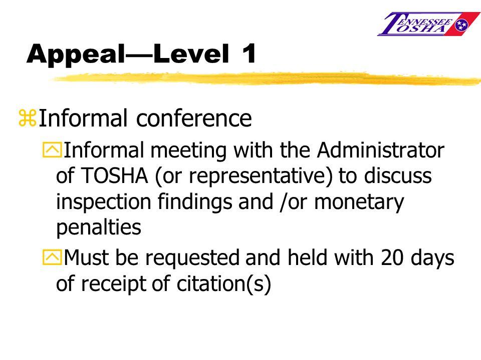 Appeal—Level 1 Informal conference