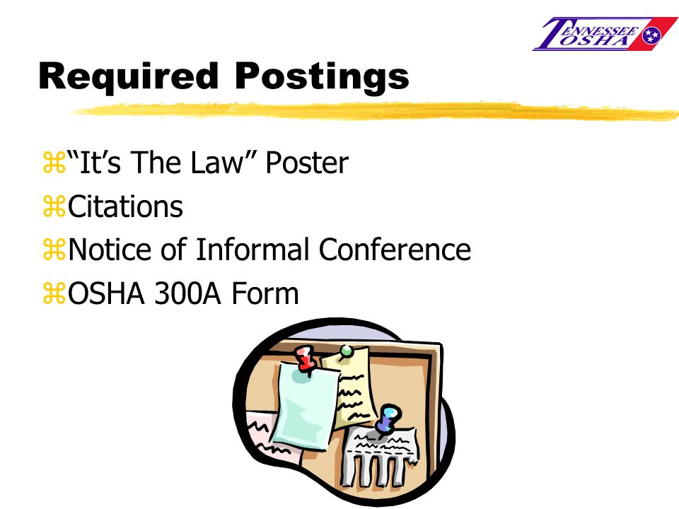 Required Postings It's The Law Poster Citations