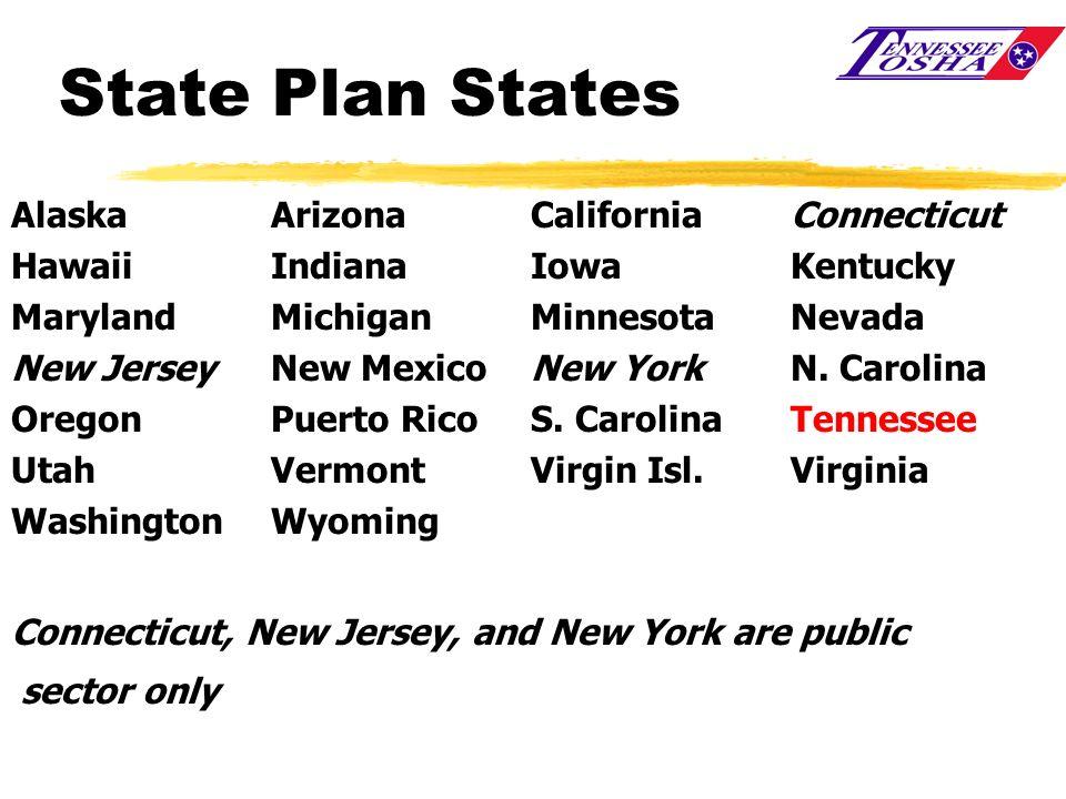 State Plan States Alaska Arizona California Connecticut