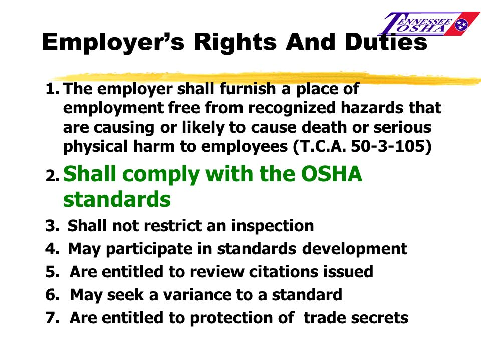 Employer's Rights And Duties