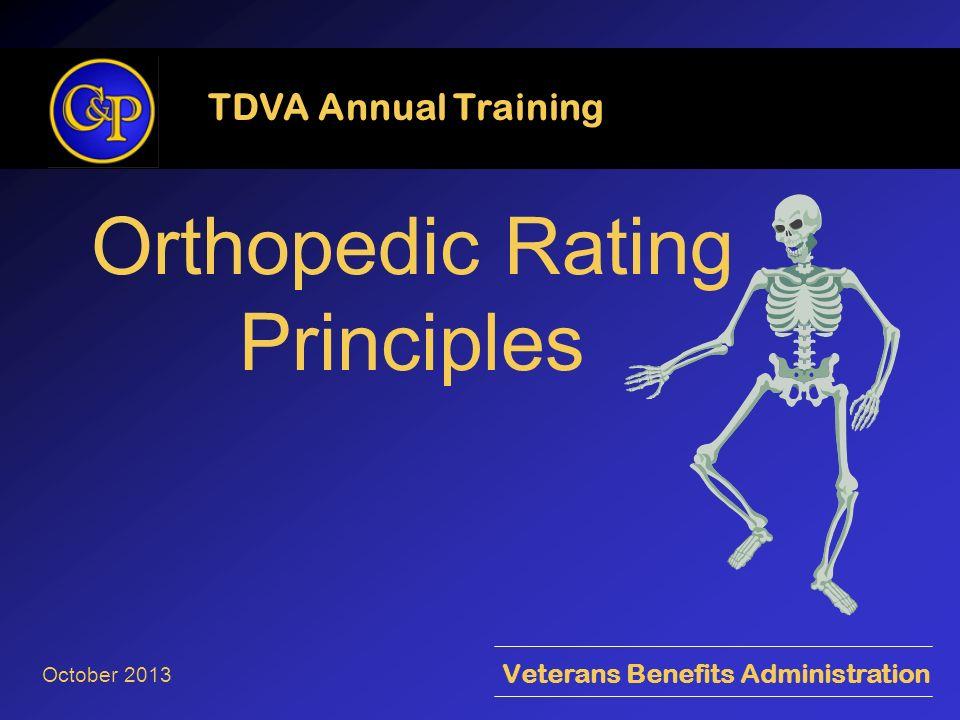 Orthopedic Rating Principles