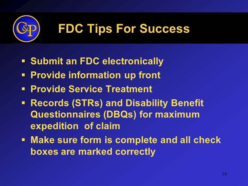 FDC Tips For Success Submit an FDC electronically