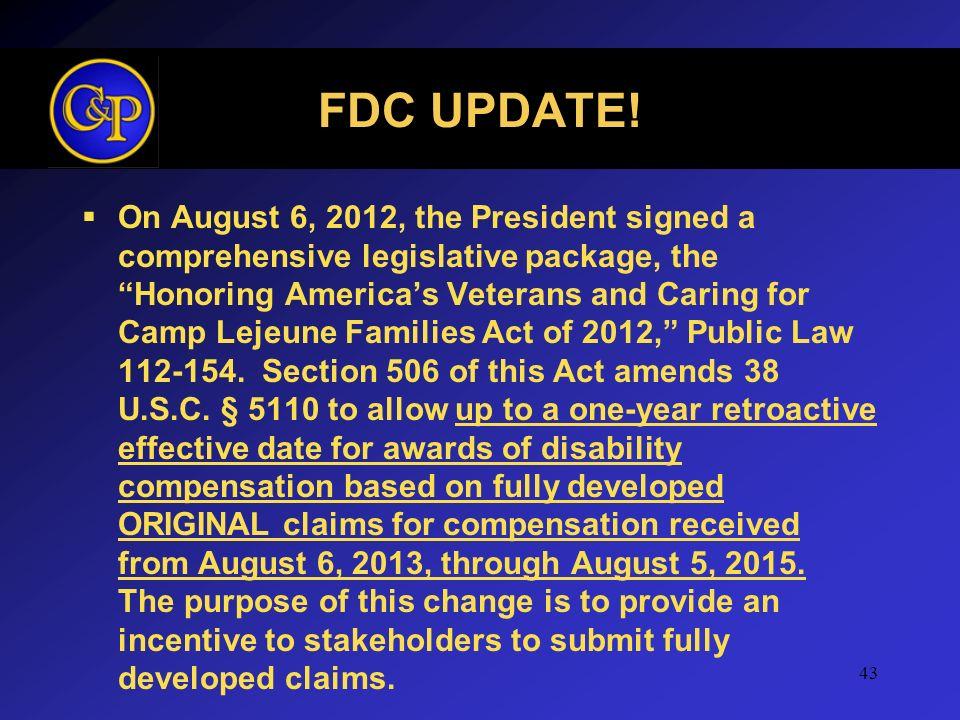FDC UPDATE!