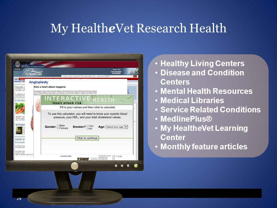 My HealtheVet Research Health