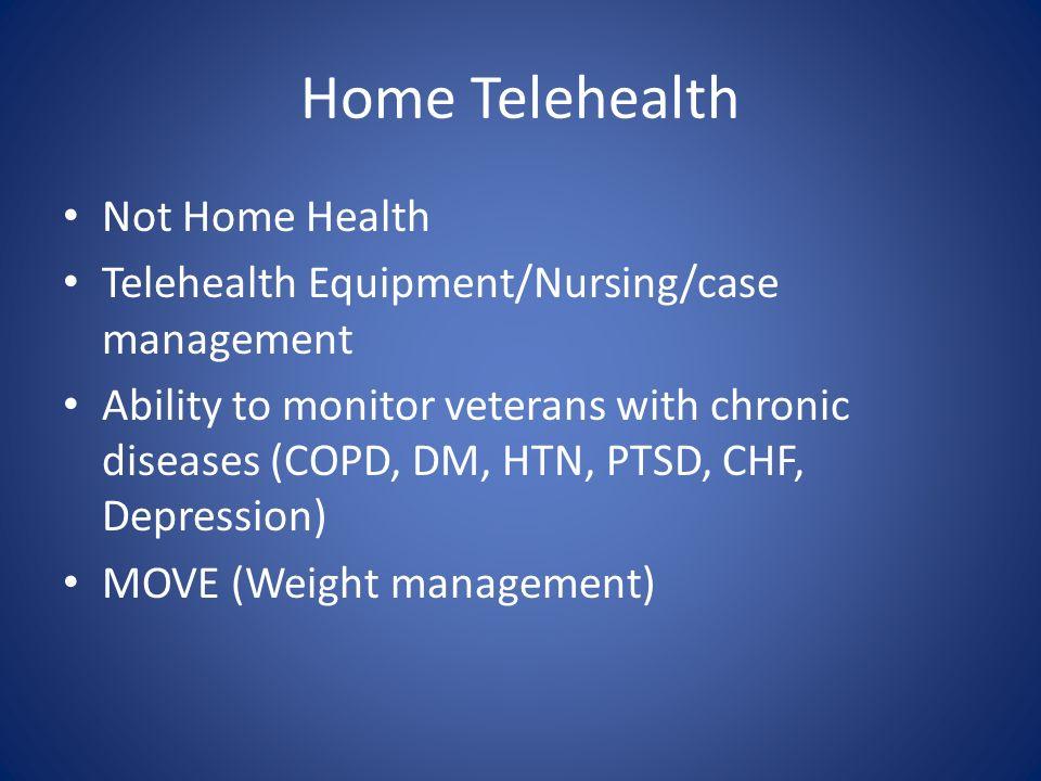 Home Telehealth Not Home Health