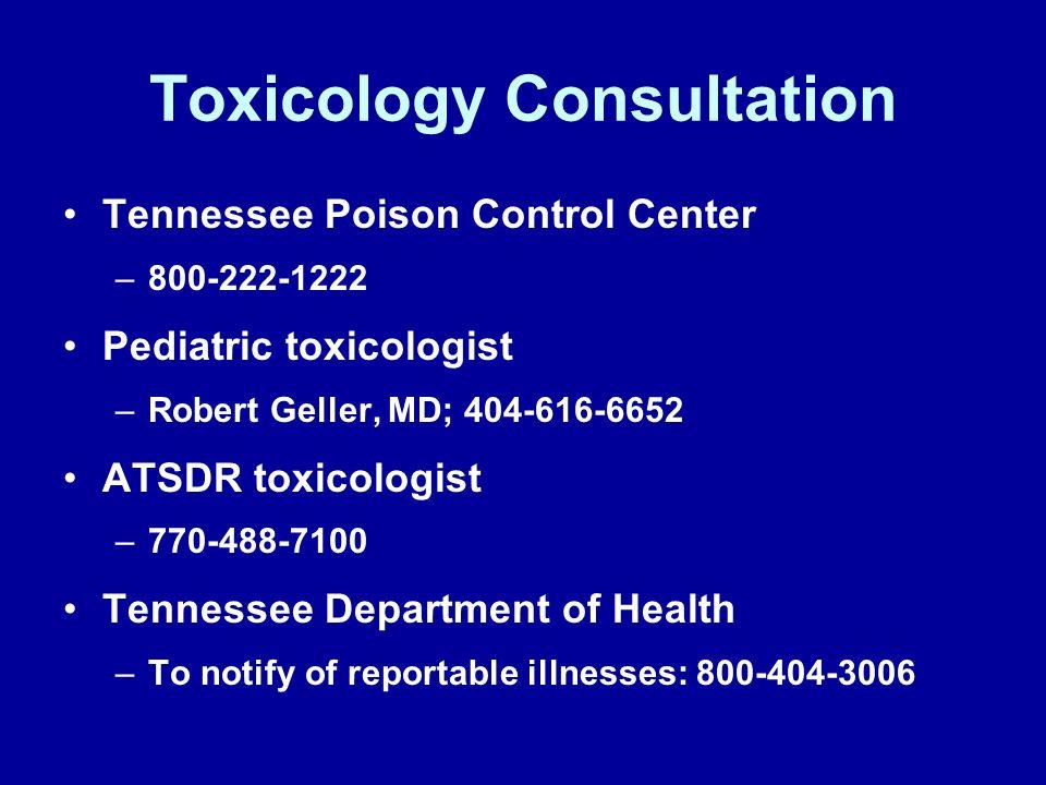 Toxicology Consultation