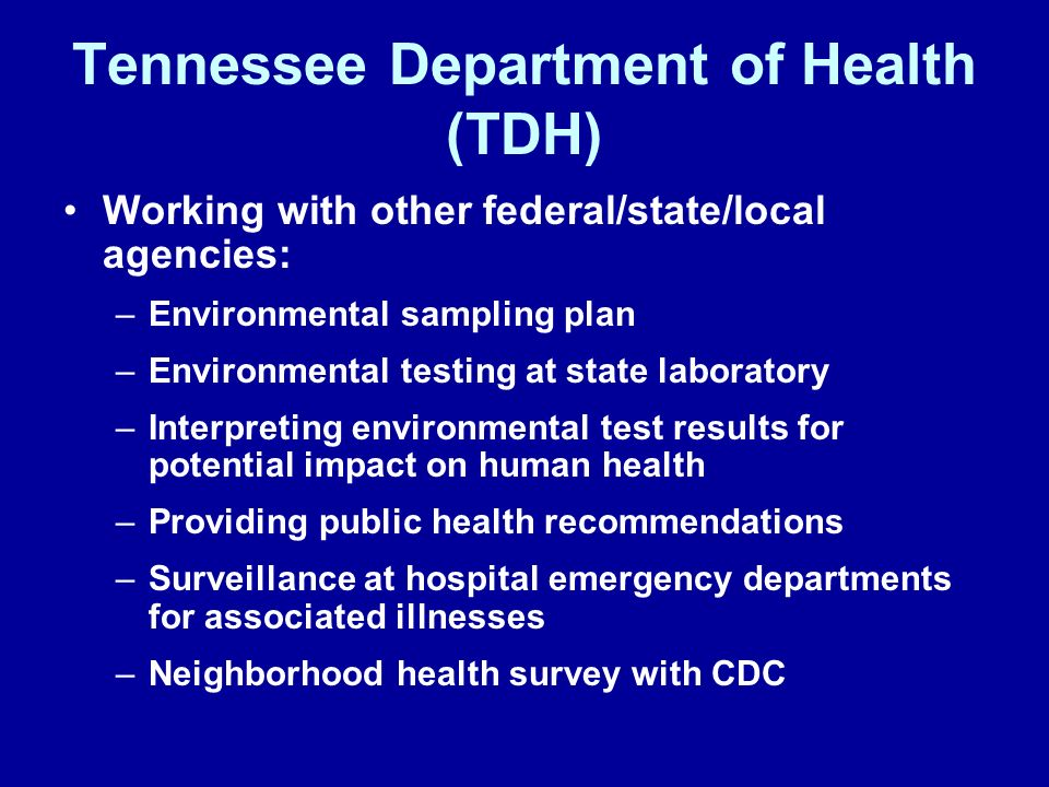 Tennessee Department of Health (TDH)