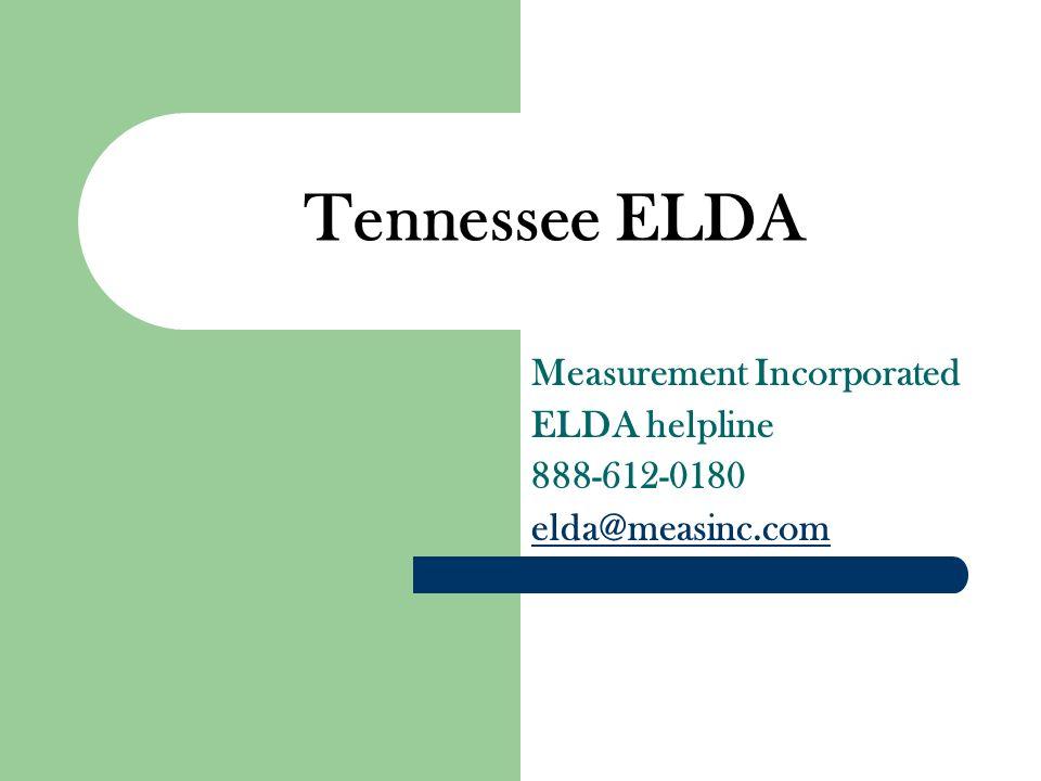 Measurement Incorporated ELDA helpline 888-612-0180 elda@measinc.com