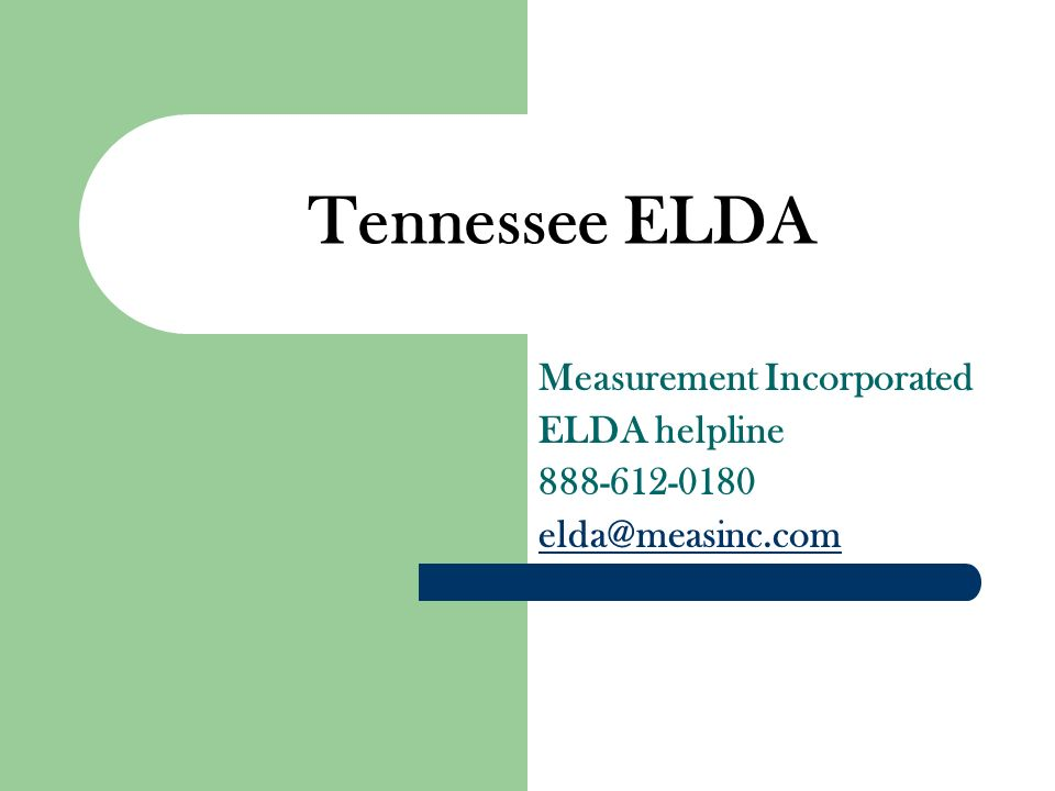 Measurement Incorporated ELDA helpline