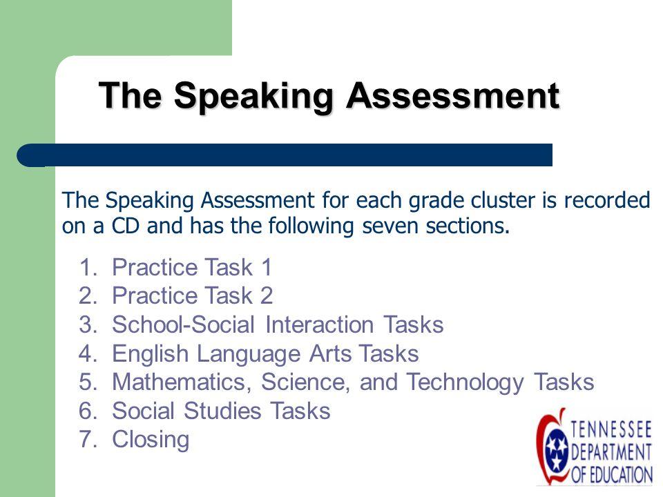 The Speaking Assessment