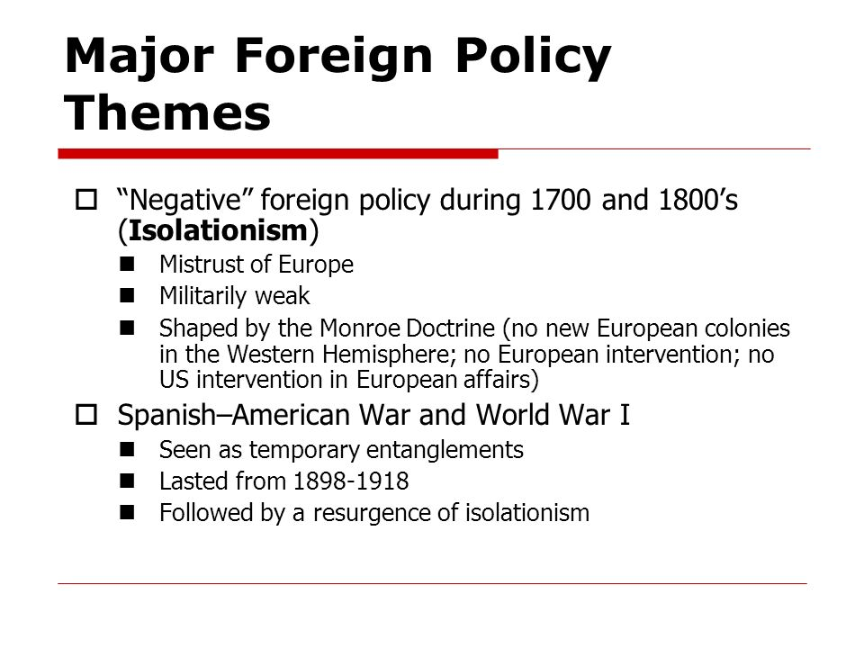 Milestones in the History of U.S. Foreign Relations